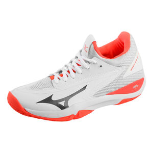Mizuno Wave Impulse Zapatilla Todas Las Superficies Mujeres - Blanco, Naranja