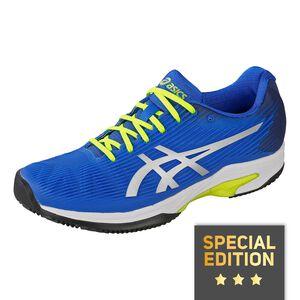 Asics Solution Speed FF Clay Zapatilla Tierra Batida Edición Especial Hombres - Azul, Amarillo Neón