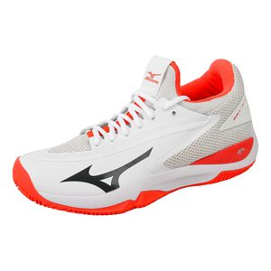 Mizuno Wave Impulse Clay Zapatilla Tierra Batida Mujeres - Blanco, Coral