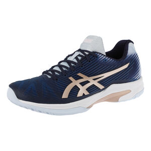 Asics Solution Speed FF Zapatilla Todas Las Superficies Mujeres - Azul Oscuro, Dorado