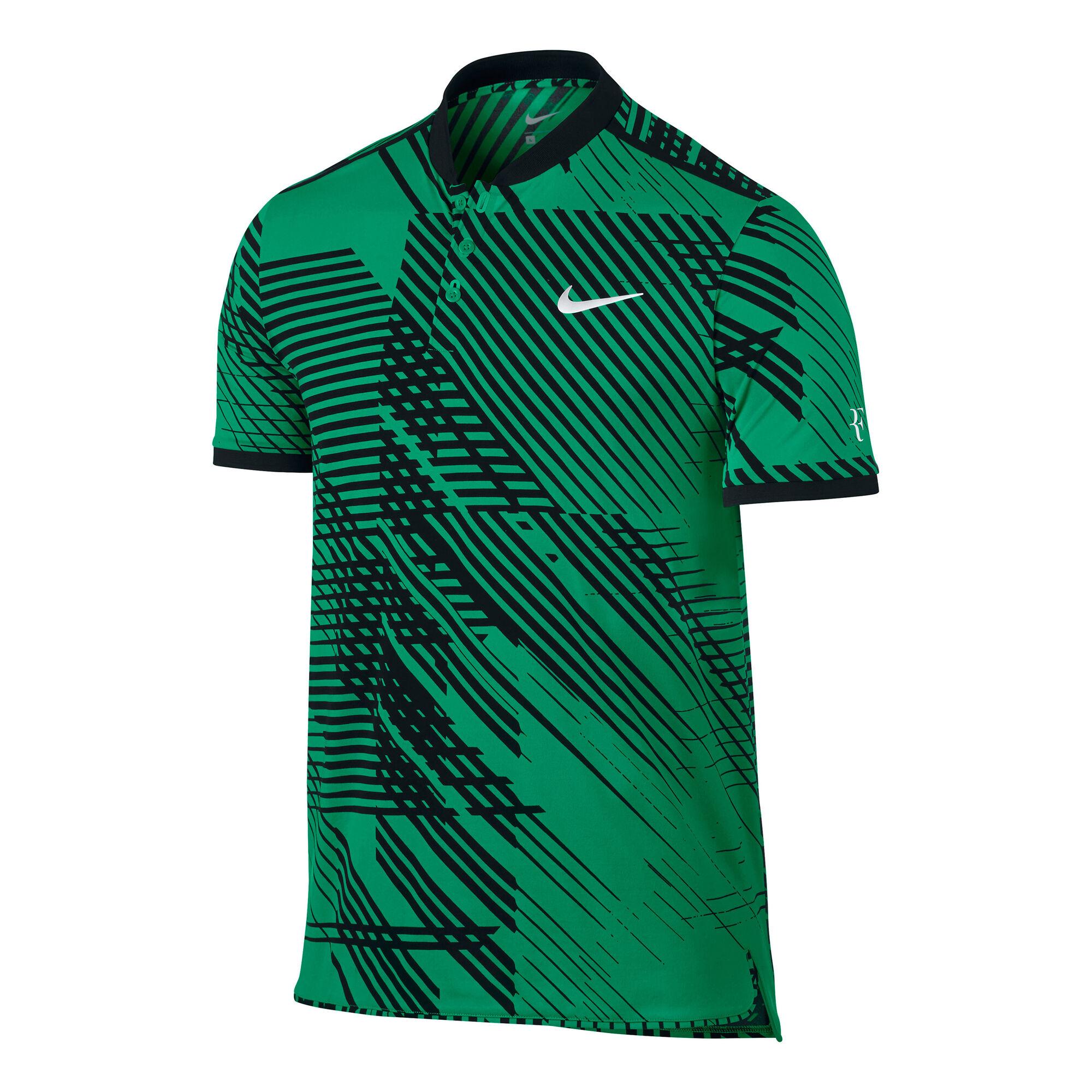 browser adjust Creek  Nike Roger Federer Advantage Premier Polo Hombres - Verde, Negro compra  online | Tennis-Point