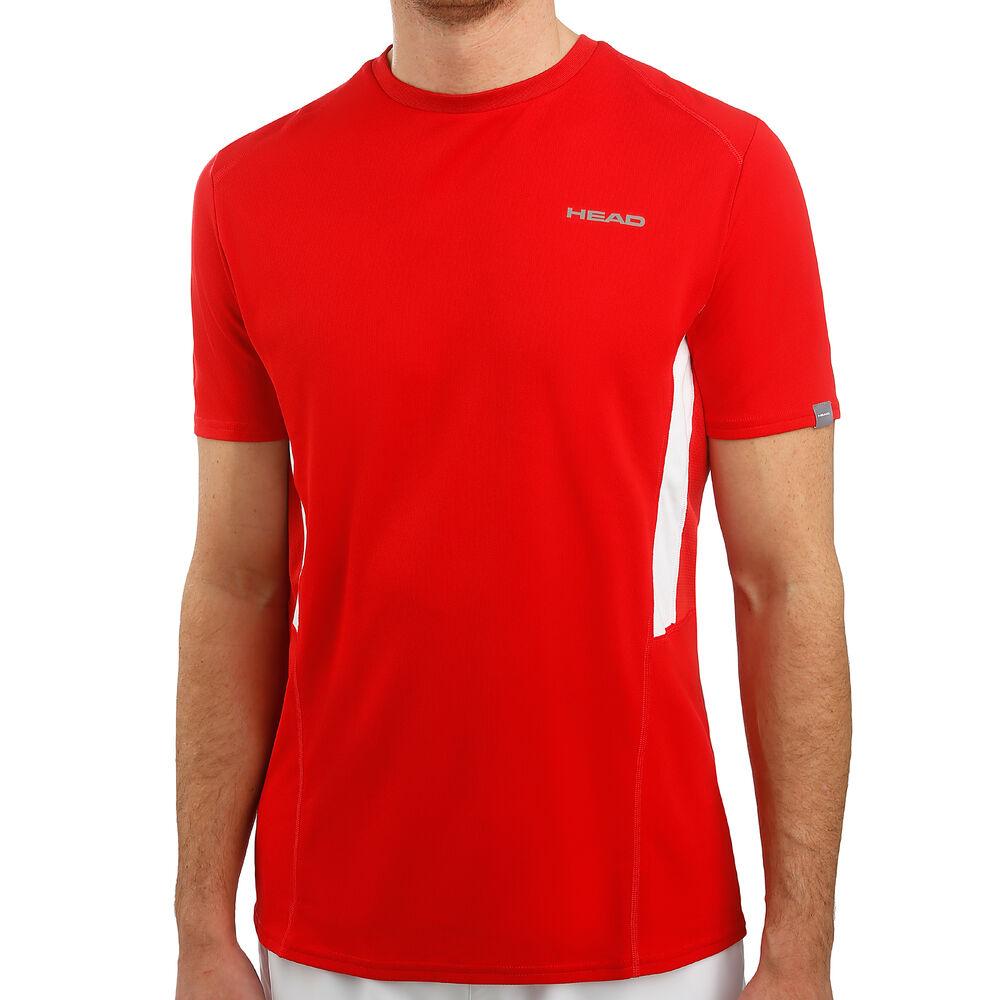 HEAD Club Tech Camiseta De Manga Corta Hombres - Rojo, Blanco