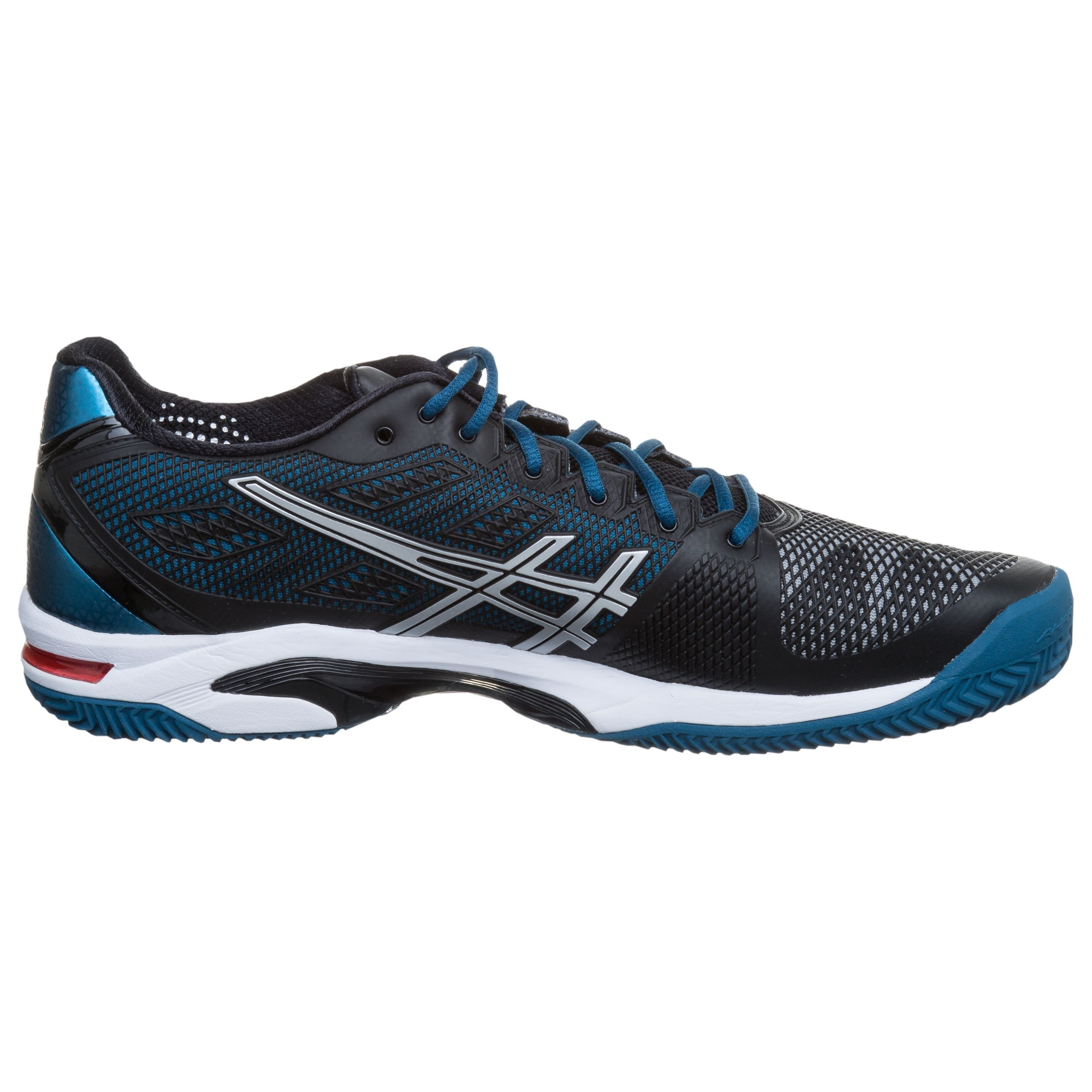 Asics Gel Solution Speed 2 Negro Plateadas Azules Ventas