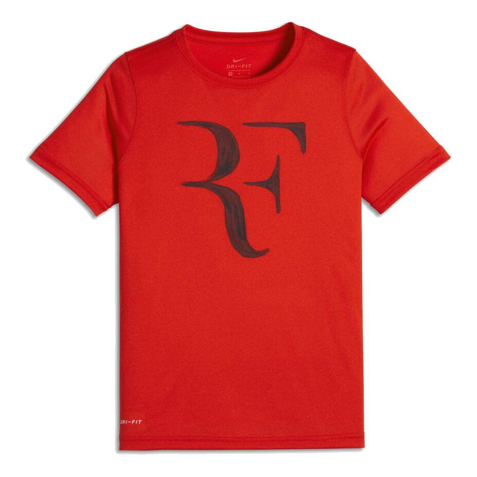 RojoBlanco Camiseta Manga De Roger Chicos Court Corta Legend Federer Nike 8v0mNnw