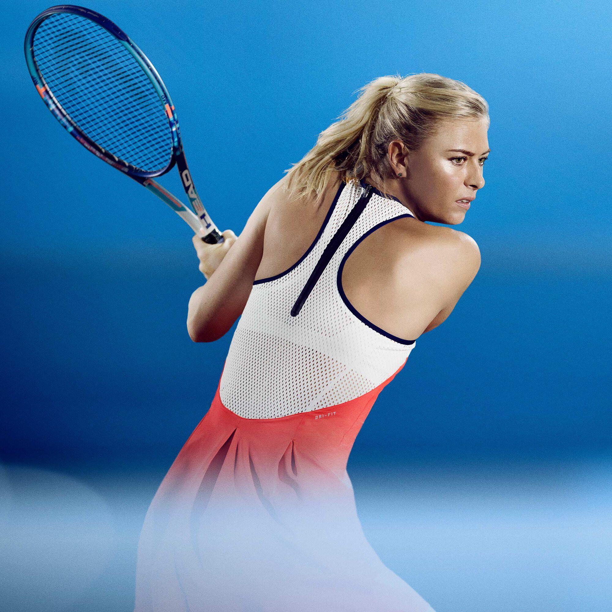 Galaxia estas sonriendo  Nike Maria Sharapova Premier Vestido Mujeres - Naranja Neón, Blanco compra  online | Tennis-Point