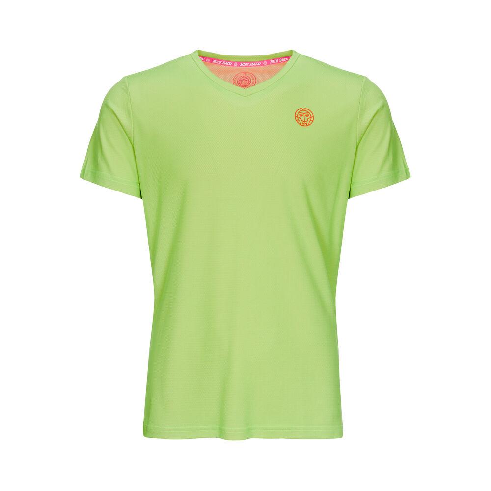 BIDI BADU Evin Tech Round-Neck Camiseta De Manga Corta Chicos - Verde Claro, Coral
