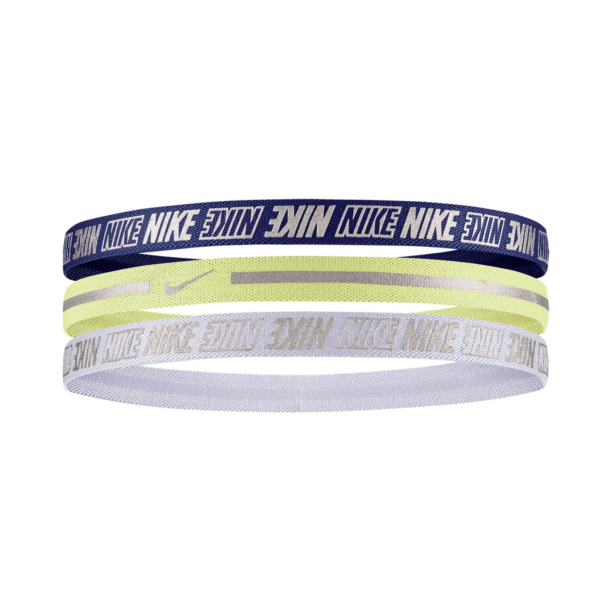 Específico detalles Papúa Nueva Guinea  Nike Metallic 2.0 Cinta Para El Pelo Pack De 3 - Azul Oscuro, Amarillo Neón  compra online | Tennis-Point