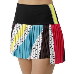 Hi-Retro Color Block Pleated Skirt
