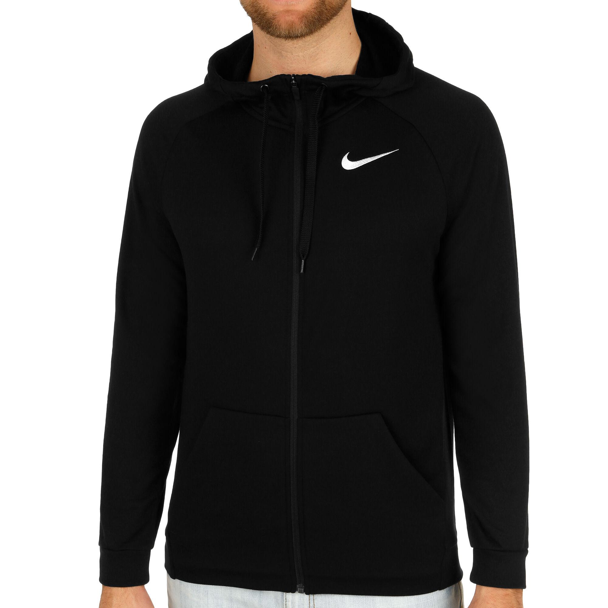 administración girasol es inutil  Nike Dry Training Chaqueta Sudadera Hombres - Negro, Blanco compra online |  Tennis-Point