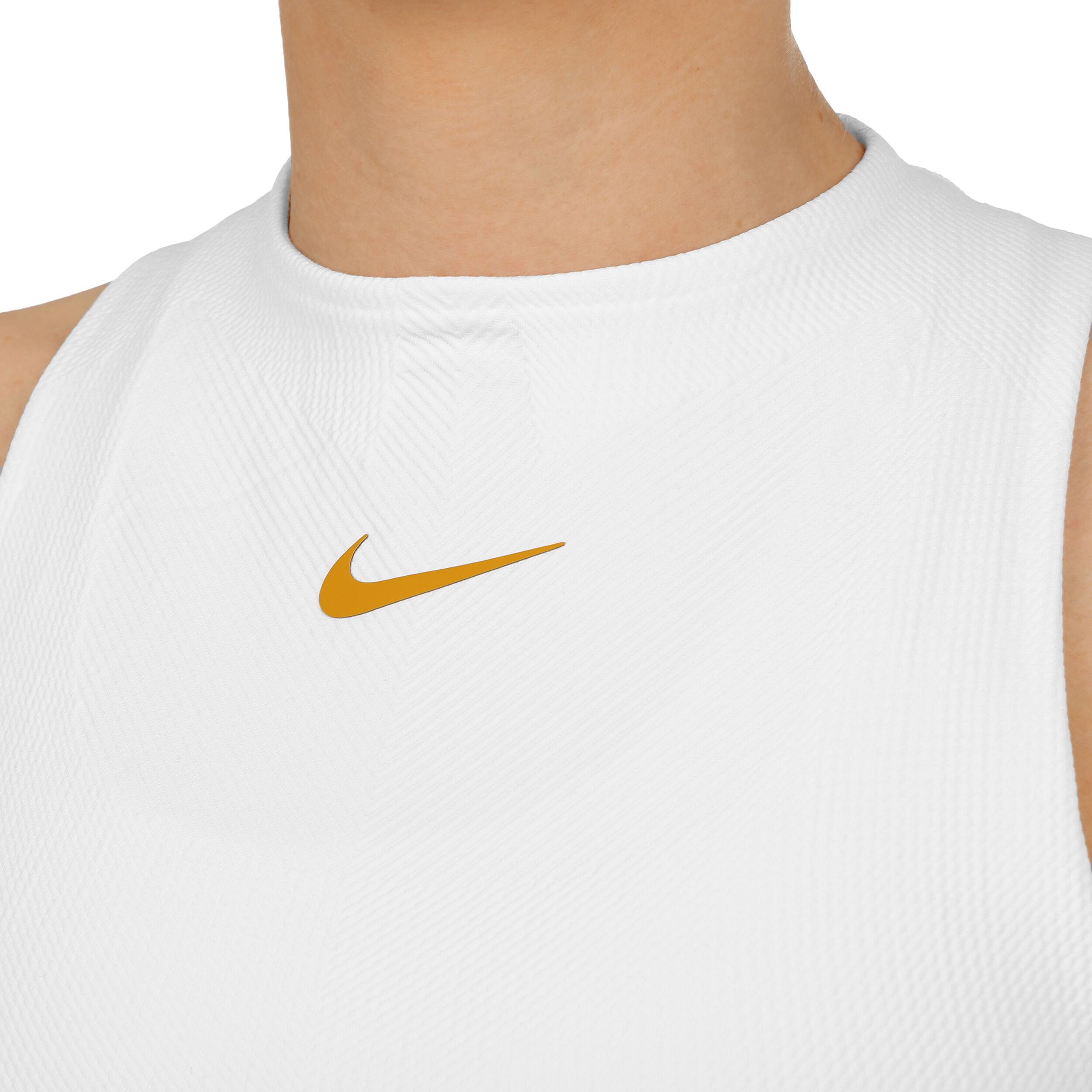 Nike Court Slam Camiseta De Tiras Mujeres Blanco, Amarillo