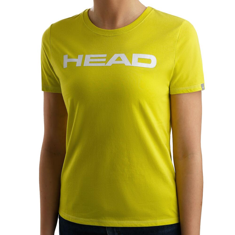HEAD Club Lucy Camiseta De Manga Corta Mujeres - Amarillo Limón, Blanco