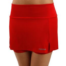 9c9659b8c Club Basic Falda Mujeres - Rojo, Plateado