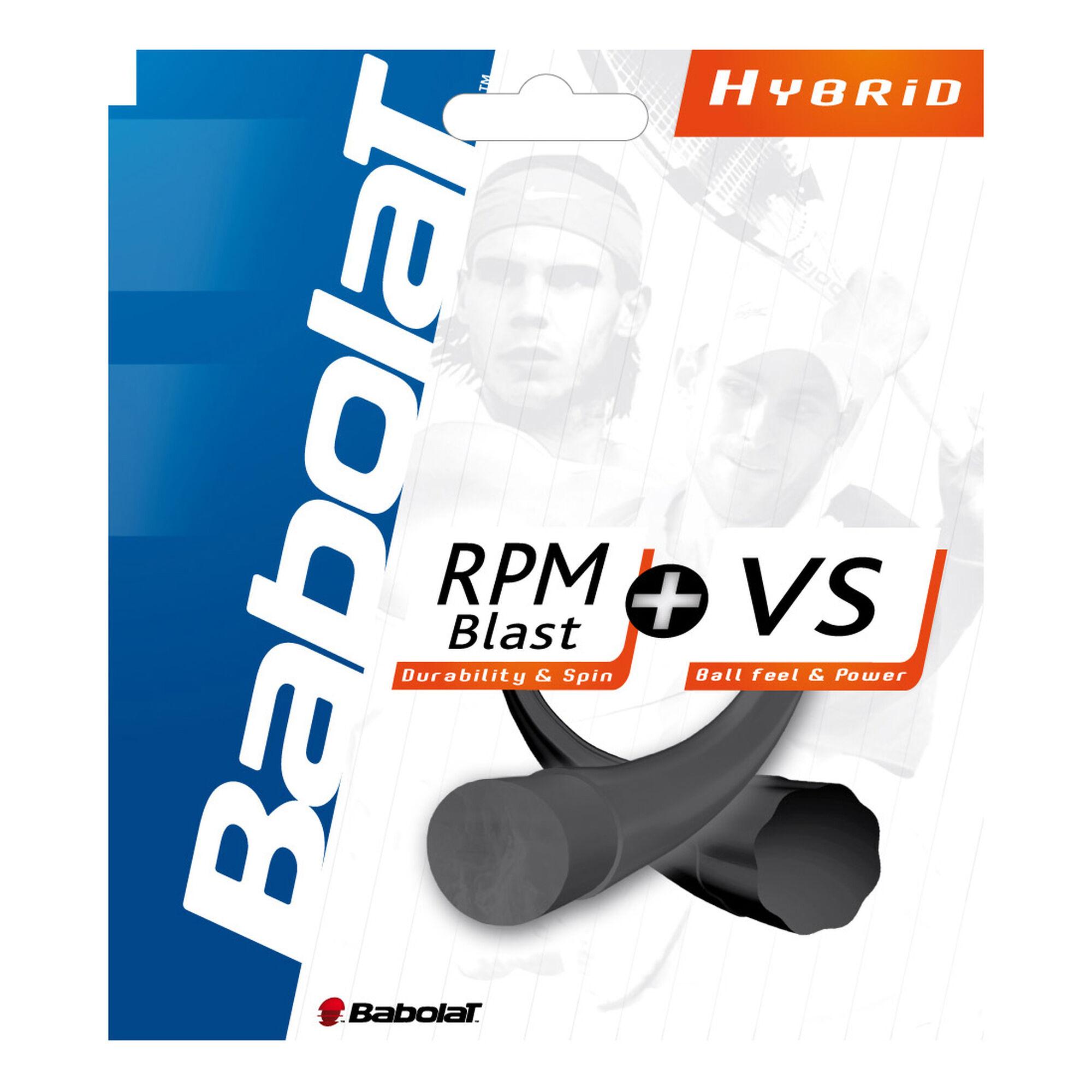 fb7dd18f Babolat RPM Blast + VS Hybridsaite Juego De Cordaje 12m - Negro ...