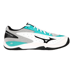 Mizuno Wave Flash Clay Zapatilla Tierra Batida Hombres - Blanco, Mint