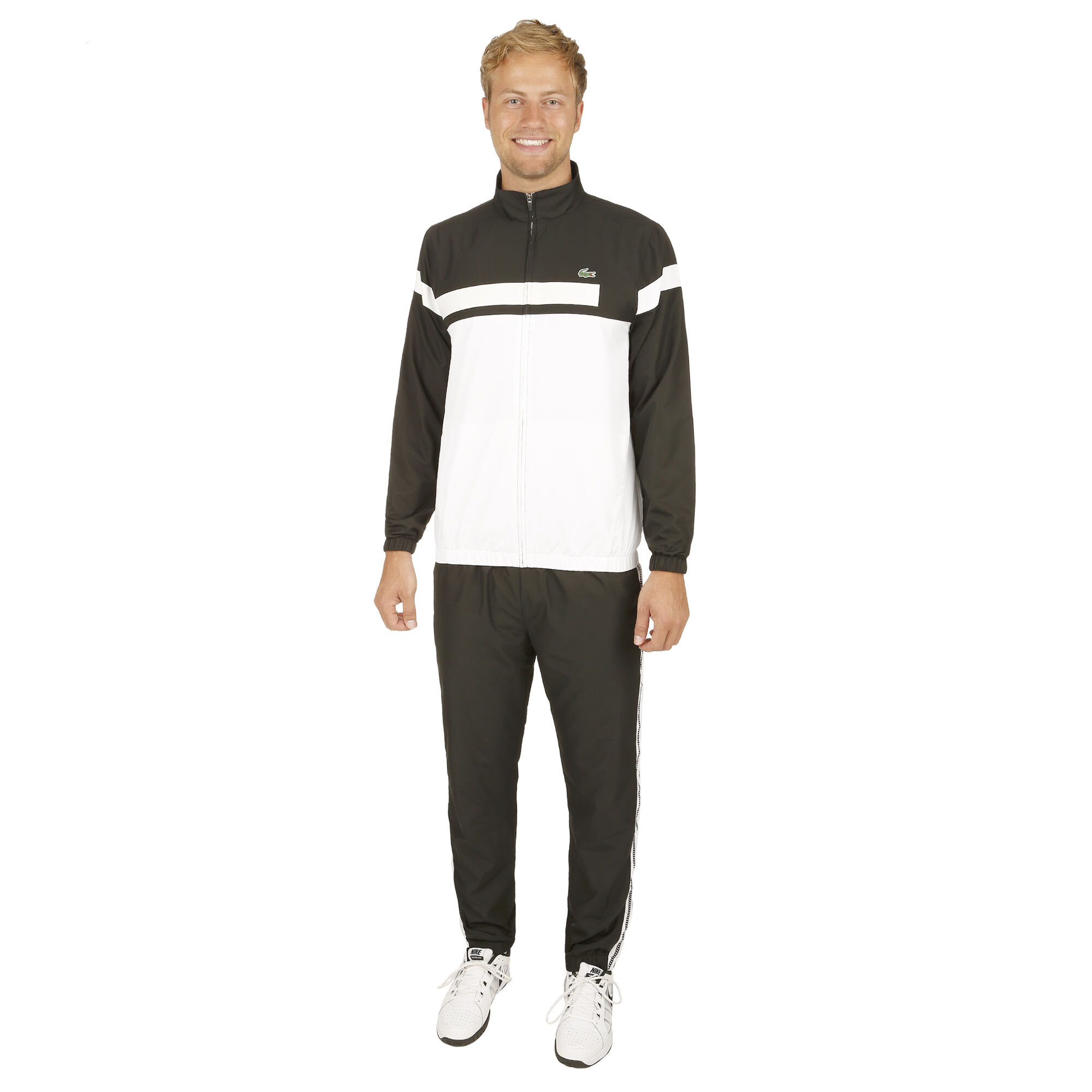 272813cca Lacoste Chándal Hombres - Blanco, Negro compra online | Tennis-Point