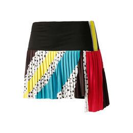 Hi-Retro Color Block Pleated Skirt