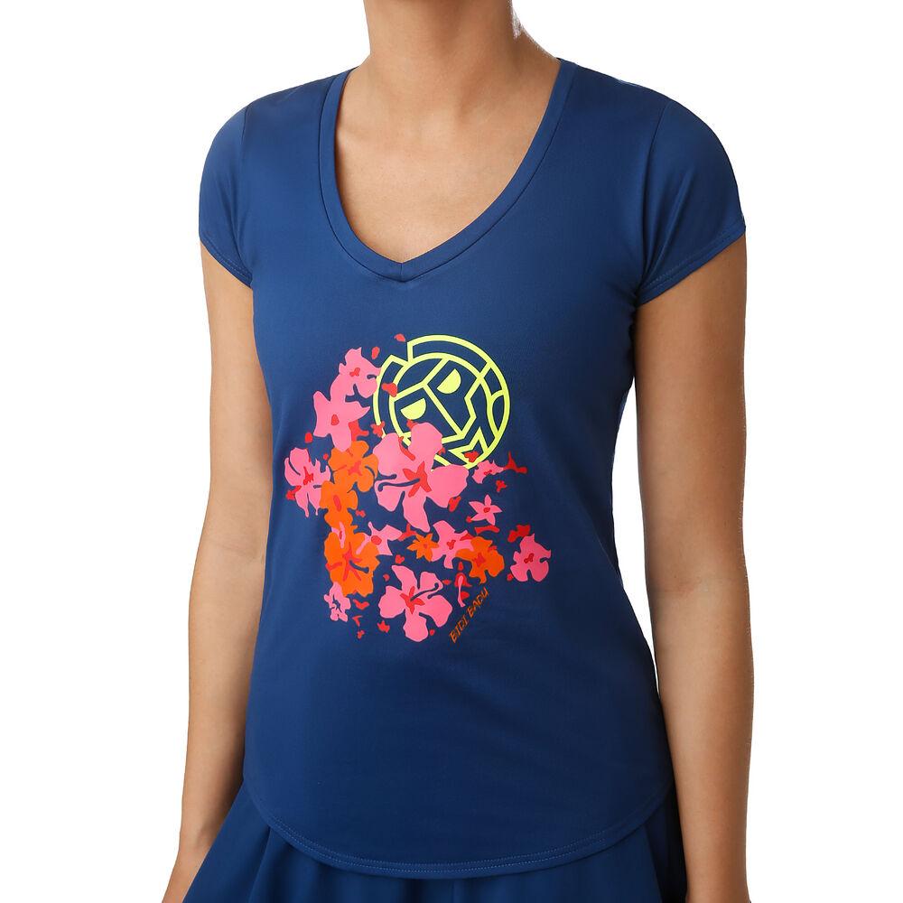 BIDI BADU Celie Lifestyle Camiseta De Manga Corta Mujeres - Azul Oscuro, Rosa