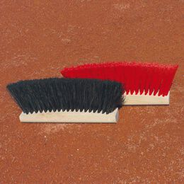 Halbrunder Linienkehrbesen aus Hartholz, Kunststoff (ohne Stiel)