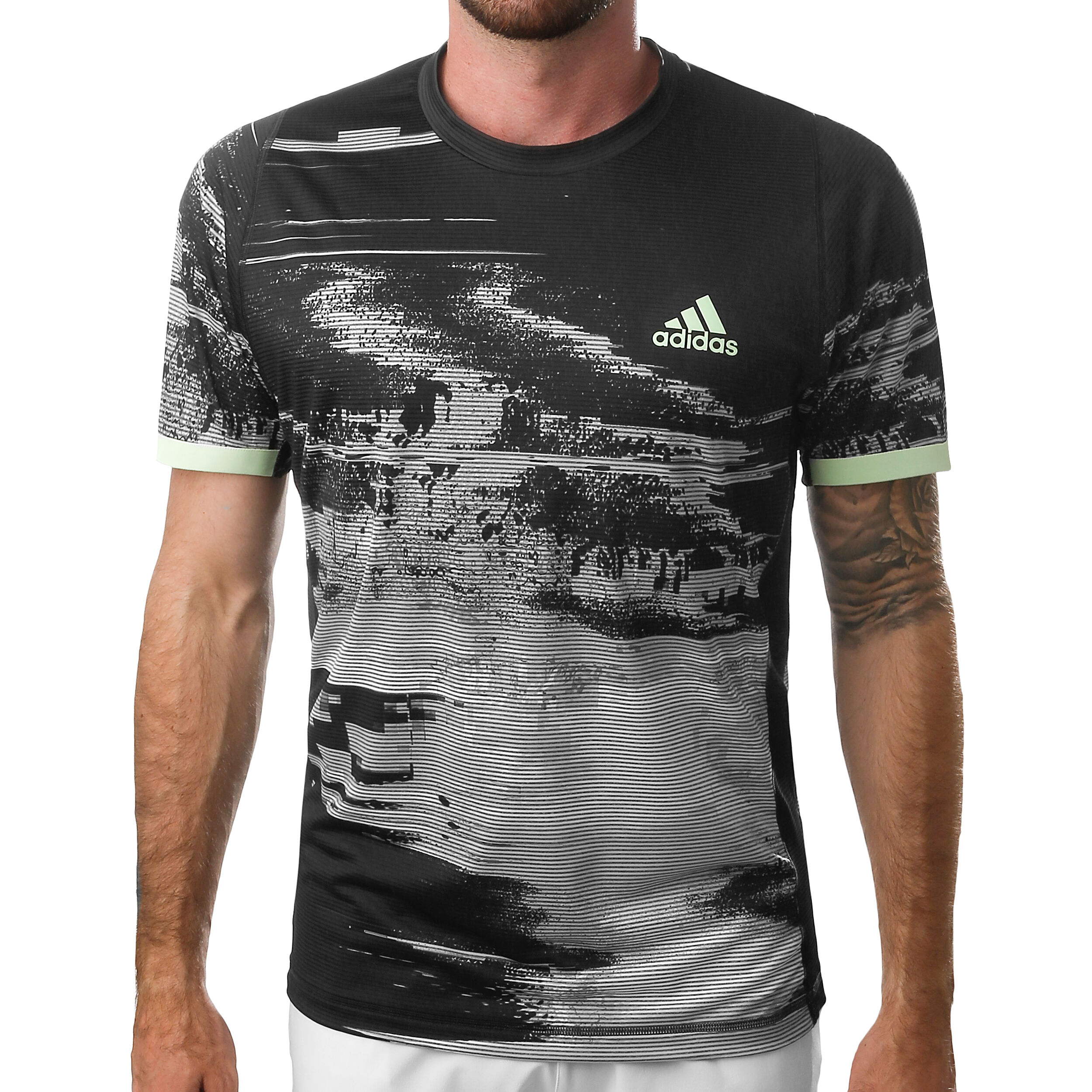 Adidas New York Printed Camiseta de Tenis Hombre Black